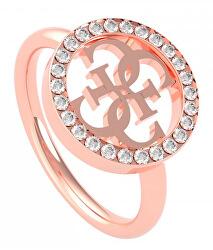 Divatos rose gold gyűrű logóval UBR79039