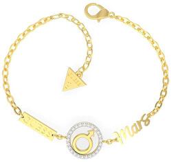 Elegantní pozlacený náramek s krystaly UBS29007
