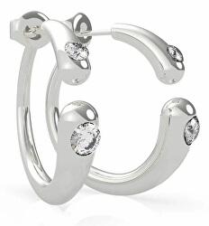 Fényűző acél fülbevaló kristályokkal UBE79147