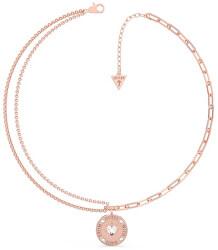 Jemný bronzový náhrdelník From Guess With Love UBN70002