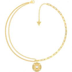 Jemný pozlacený náhrdelník From Guess With Love UBN70001