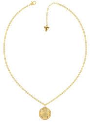 Jemný pozlacený náhrdelník Vintage Bear UBN70024