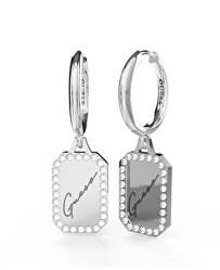 Karika fülbevaló medálokkal Crystal Tag JUBE01133JWRHT/U