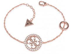 Luxusní náramek pozlacen růžovým zlatem UBB79083-S