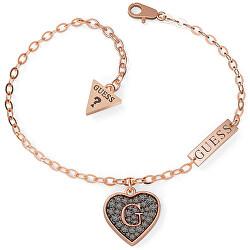 Luxusní náramek se třpytivým srdcem UBB79065
