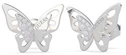 Luxusné náušnice s motýľom UBE70184