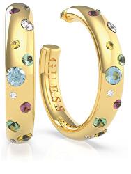 Luxusní pozlacené náušnice s krystaly Fun Tonight UBE70045