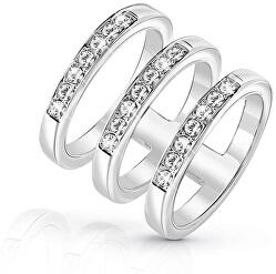 Luxusné trojitý prsteň UBR84036