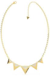 Moderní pozlacený dámský náhrdelník s přívěsky UBN70060
