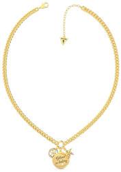 Módní pozlacený náhrdelník se třemi přívěsky UBN70045
