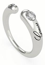 Módní otevřený prsten s krystaly UBR79060