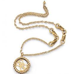 Módní pozlacený náhrdelník s 4G logem 4G Vintage  JUBN01005JWAGT/U