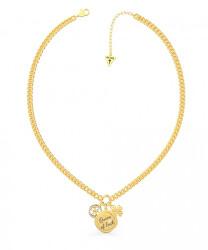 Módní pozlacený náhrdelník se třemi přívěsky UBN70035