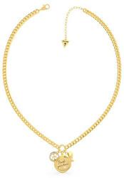 Módní pozlacený náhrdelník se třemi přívěsky UBN70039