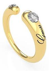 Módní pozlacený otevřený prsten s krystaly UBR79061