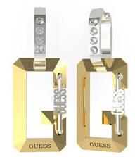 Ocelové bicolor náušnice s přívěsky G Snap UBE70082