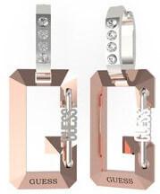 Ocelové bicolor náušnice s přívěsky G Snap UBE70083