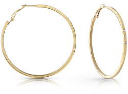 Aranyozott karika fülbevalók Swarovski kristályokkal UBE78079