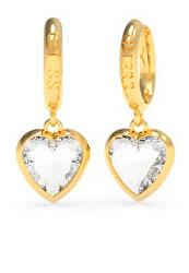 Aranyozott karika fülbevaló szívekkel   From Guess With Love UBE70029