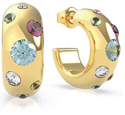 Aranyozott fülbevaló kristályokkal UBE70043