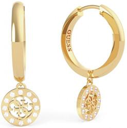 Aranyozott fülbevaló medálokkal Guess Miniature UBE79043