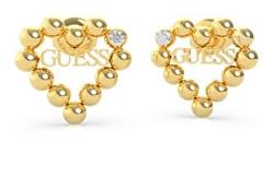 Pozlacené srdíčkové náušnice Heart Romance UBE70174