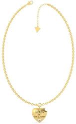 Pozlacený náhrdelník s přívěskem srdce Guess is for Lovers UBN70026