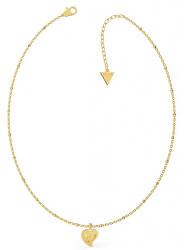 Pozlacený náhrdelník s přívěskem srdce UBN79013
