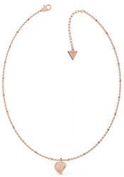 Pozlacený náhrdelník s přívěskem srdce UBN79014