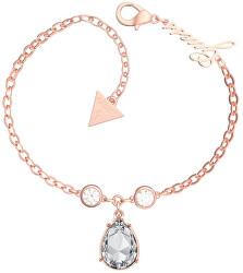 Růžově pozlacený náramek s krystaly UBB29094-S