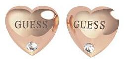 Srdíčkové bronzové náušnice s krystaly UBE70106