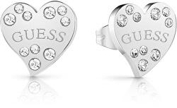 Srdíčkové náušnice s krystaly UBE78051