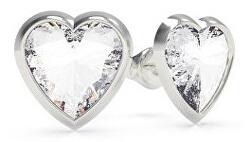 Srdíčkové ocelové náušnice s krystalem Swarovski UBE70039