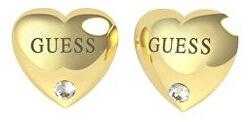 Srdíčkové pozlacené náušnice s krystaly UBE70105