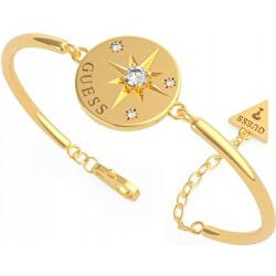 Brățară elegantă placată cu aur și cristale UBB20025-S