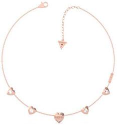 Zamilovaný bronzový náhrdelník Guess is for lovers UBN70030