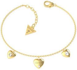Zamilovaný pozlacený náramek Guess is for lovers UBB70038-S