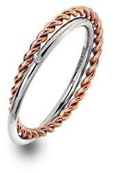Luxus ezüst gyűrű valódi gyémánttal Jasmine RG DR211
