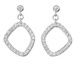 Luxusné strieborné náušnice s diamantmi a Topaz Behold DE654