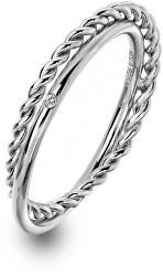 Luxus ezüst gyűrű valódi gyémánttal Jasmine DR210