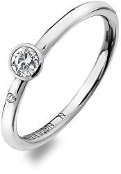 Luxus ezüst gyűrű topázzal és gyémánttal Willow DR206