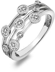 Luxus ezüst gyűrű topázzal és gyémánttal Willow DR207