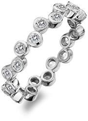 Luxus ezüst gyűrű Willow topázzalDR208