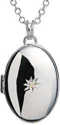 Náhrdelník s medailónom a diamantom DP143_DP549 (retiazka, prívesok)