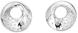 Něžné stříbrné náušnice s diamanty Quest DE650