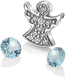 Strieborný element anjelik s modrými TOPAZ Anais AC104