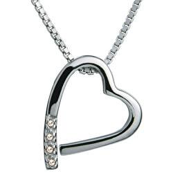 Náhrdelník Hot Diamonds Just Add Love Memories DP100 (řetízek, přívěsek)