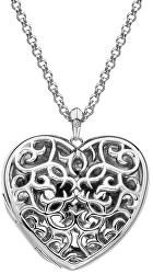 Něžný náhrdelník pro ženy Large Heart Filigree Locket DP669