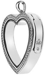 Prívesok na elementy Anais Srdce s kryštálmi a diamantom EX011