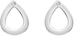 Stříbrné kapkové náušnice s pravými diamanty Amulets DE615